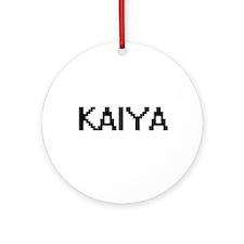 Kaiya Digital Name Ornament (Round)