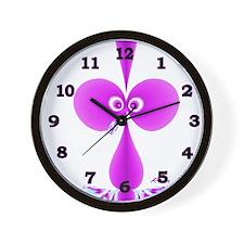 Goofy Bird Purple w Black Digits Wall Clock
