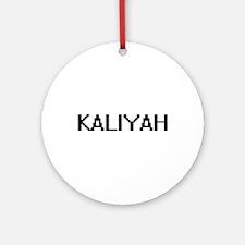 Kaliyah Digital Name Ornament (Round)