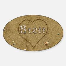 Brett Beach Love Sticker (Oval)
