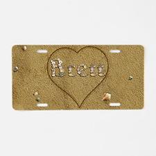 Brett Beach Love Aluminum License Plate