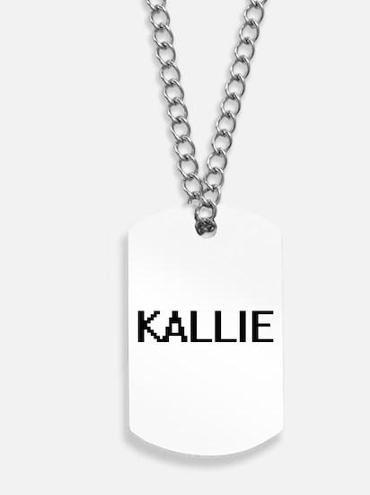 Kallie Digital Name Dog Tags