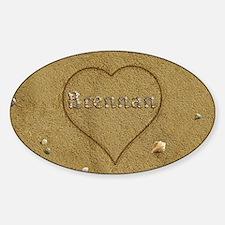 Brennan Beach Love Sticker (Oval)