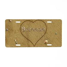 Brennan Beach Love Aluminum License Plate