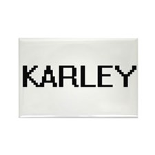 Karley Digital Name Magnets