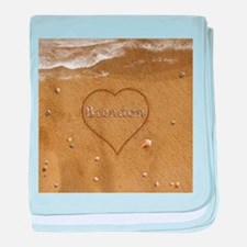 Brendon Beach Love baby blanket