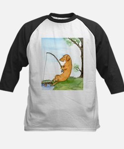 Wirehair Dox Fishing Kids Baseball Jersey