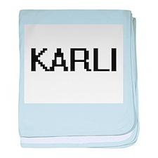 Karli Digital Name baby blanket