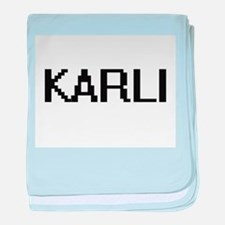 Karli Digital Name baby blanket