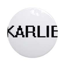 Karlie Digital Name Ornament (Round)