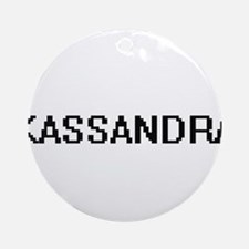 Kassandra Digital Name Ornament (Round)