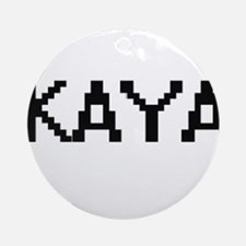 Kaya Digital Name Ornament (Round)