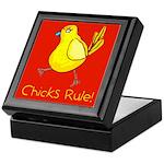 Kid Art Chicks Rule Keepsake Box