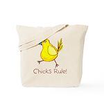 Kid Art Chicks Rule Tote Bag