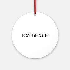 Kaydence Digital Name Ornament (Round)