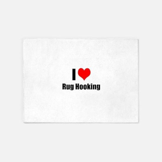 I Heart Rug Hooking 5'x7'Area Rug