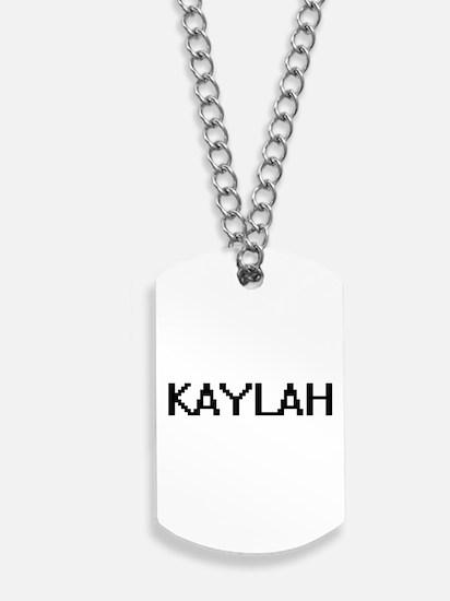 Kaylah Digital Name Dog Tags