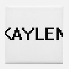 Kaylen Digital Name Tile Coaster