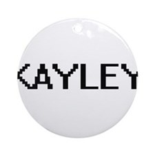 Kayley Digital Name Ornament (Round)