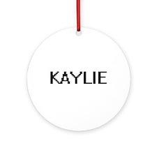 Kaylie Digital Name Ornament (Round)