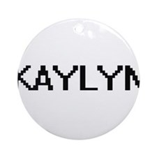 Kaylyn Digital Name Ornament (Round)