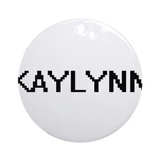 Kaylynn Digital Name Ornament (Round)