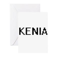 Kenia Digital Name Greeting Cards