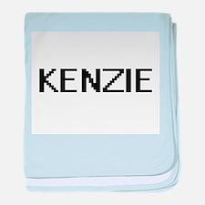 Kenzie Digital Name baby blanket