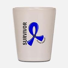 Colon Cancer Survivor 12 Shot Glass