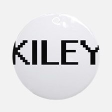 Kiley Digital Name Ornament (Round)