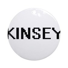Kinsey Digital Name Ornament (Round)