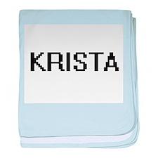 Krista Digital Name baby blanket