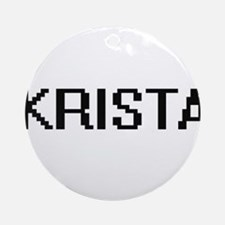Krista Digital Name Ornament (Round)