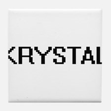 Krystal Digital Name Tile Coaster