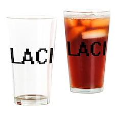 Laci Digital Name Drinking Glass