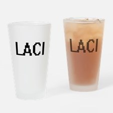 Laci Digital Name Drinking Glass
