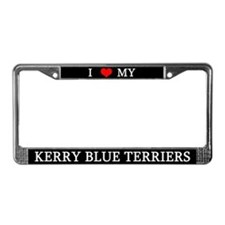 Love Kerry Blue Terriers License Plate Frame
