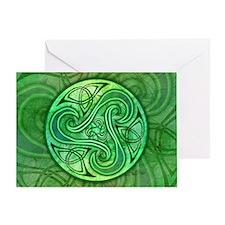 Celtic Triskele Greeting Card