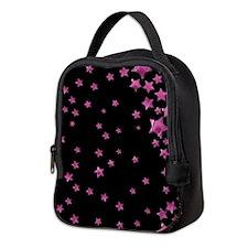 Starry Magic Pink Neoprene Lunch Bag