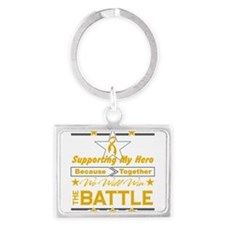 Appendix Cancer Hero Landscape Keychain