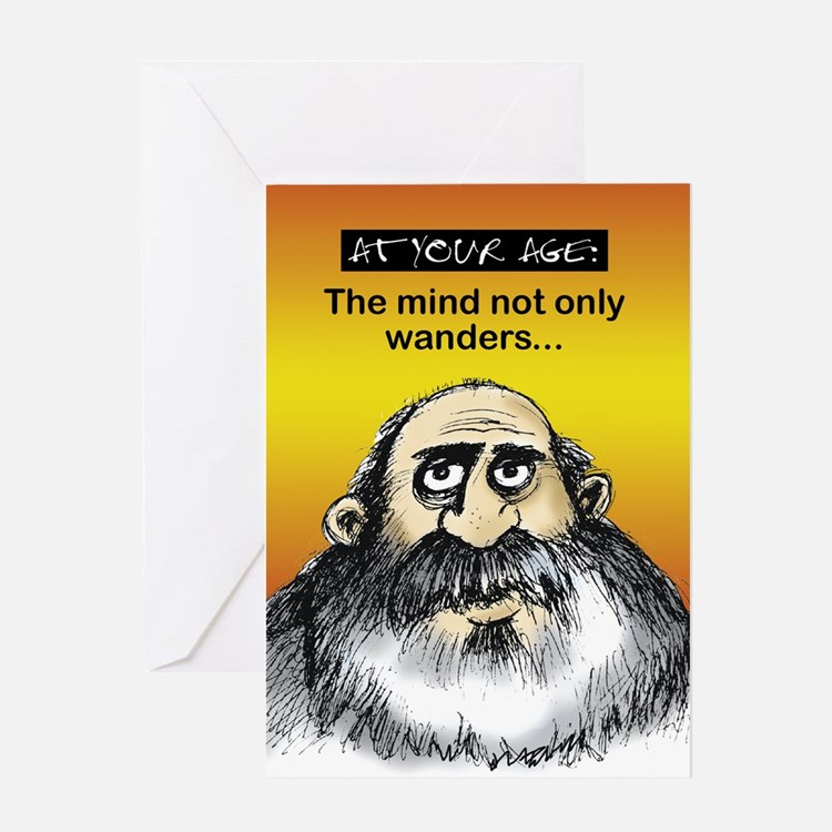 Mind wanders - Greeting Card