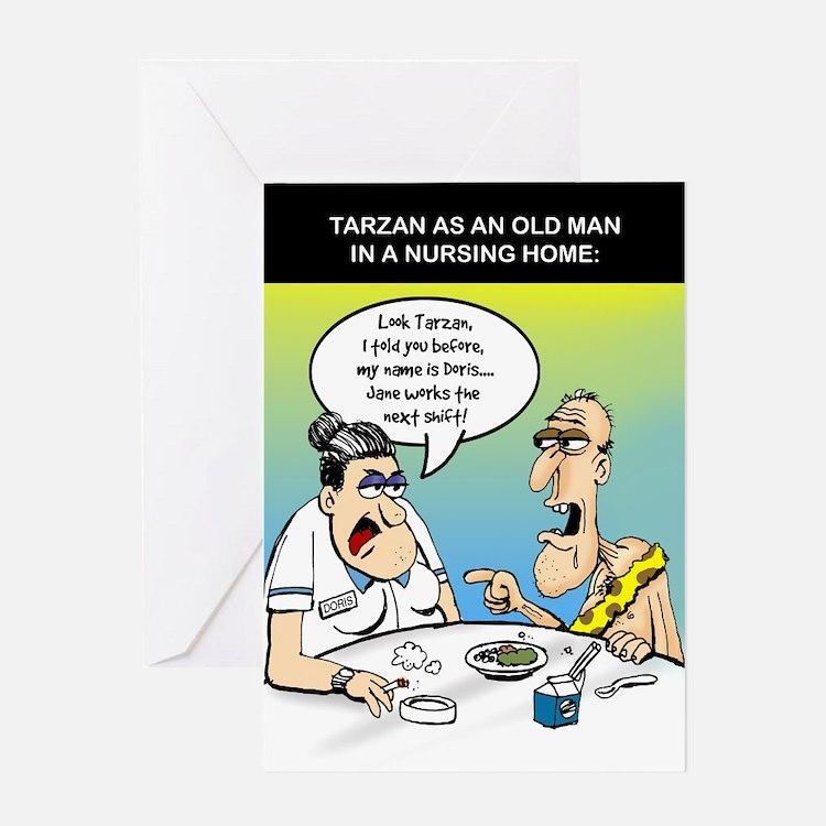 Tarzan as an old man - Greeting Card