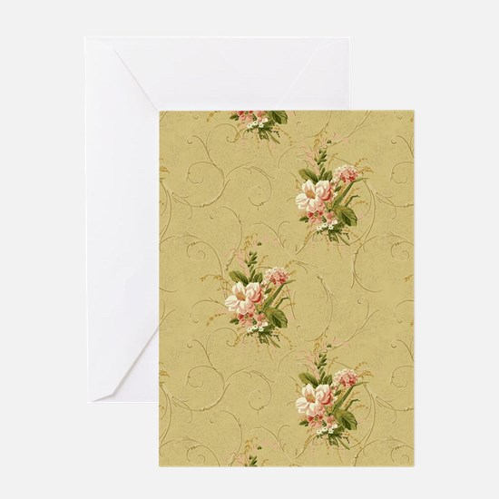 victorian floral Greeting Cards