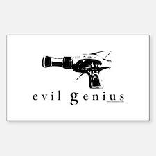 evil genius Rectangle Decal