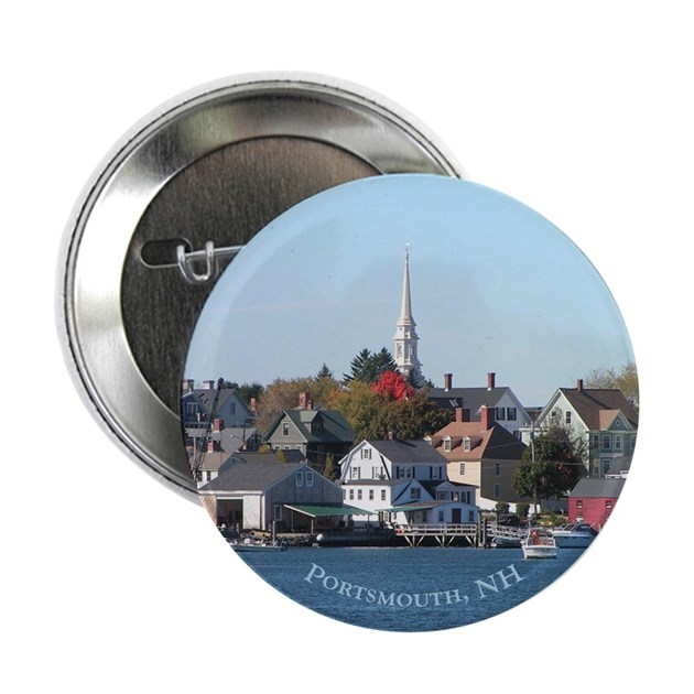 Portsmouth Nh Waterfront Button 10 Pack By Hw Po1