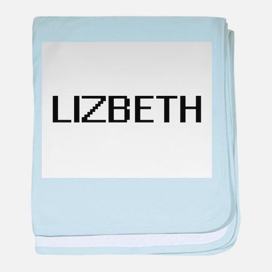 Lizbeth Digital Name baby blanket