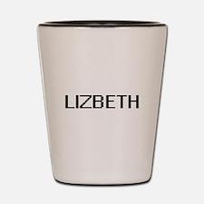 Lizbeth Digital Name Shot Glass