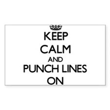 Keep Calm and Punch Lines ON Decal