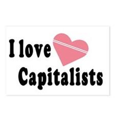 I Love Capitalists Postcards (Package of 8)