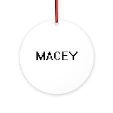 Macey Digital Name Ornament (Round)